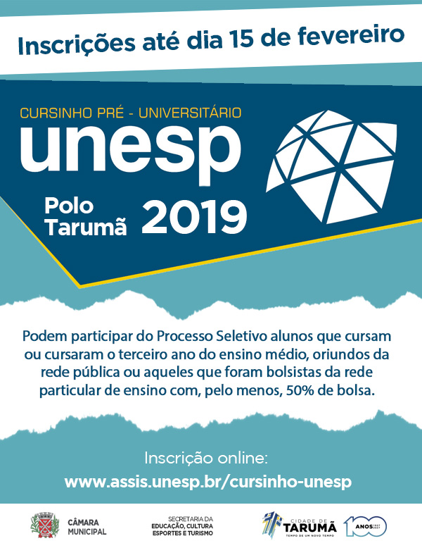 inscricaocursinhounesp2019
